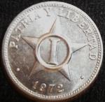 monedas de America - Cuba -  1972 (Reverso)