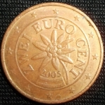 monedas de Europa - Austria -  2005 (Anverso)