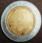 monedas de America - Bolivia -  2001 (Reverso)