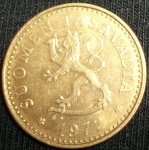 monedas de Europa - Finlandia -  1972 (Anverso)