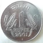 monedas de Asia - India -  2001 (Reverso)