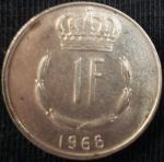 monedas de Europa - Luxemburgo -  1968 (Reverso)