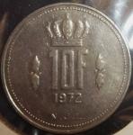 monedas de Europa - Luxemburgo -  1972 (Reverso)
