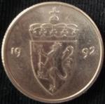 monedas de Europa - Noruega -  1992 (Anverso)