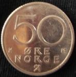 monedas de Europa - Noruega -  1992 (Reverso)