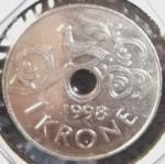 monedas de Europa - Noruega -  1998 (Anverso)