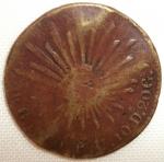 monedas de America - México -  1860 (Anverso)