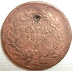 monedas de America - México -  1889 (Anverso)