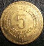 monedas de America - Chile -  1966 (Reverso)