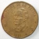 monedas de America - Rep Dominicana -  1991 (Anverso)