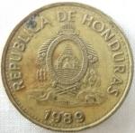 monedas de America - Honduras -  1989 (Anverso)