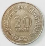 monedas de Asia - Singapur -  1967 (Reverso)