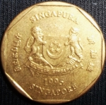 monedas de Asia - Singapur -  1995 (Anverso)