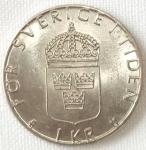 monedas de Europa - Suecia -  1977 (Reverso)