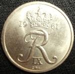 monedas de Europa - Dinamarca -  1961 (Anverso)