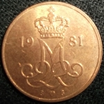 monedas de Europa - Dinamarca -  1981 (Anverso)