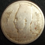 monedas de Africa - Egipto -  1938 (Anverso)