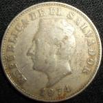 monedas de America - El Salvador -  1974 (Anverso)