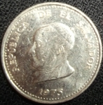 monedas de America - El Salvador -  1975 (Anverso)