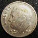 monedas de America - Estados Unidos -  1966 (Anverso)