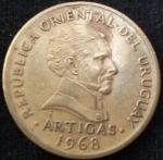 monedas de America - Uruguay -  1968 (Anverso)