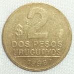 monedas de America - Uruguay -  1998 (Reverso)