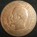monedas de Europa - Francia -  1854 (Anverso)