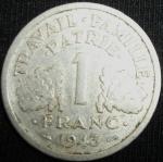 monedas de Europa - Francia -  1943 (Reverso)