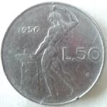 monedas de Europa - Italia -  1956 (Anverso)
