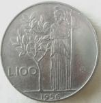 monedas de Europa - Italia -  1956 (Reverso)