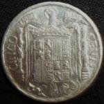 monedas de Europa - España -  1945 (Reverso)