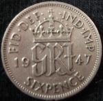 monedas de Europa - Reino Unido -  1947 (Reverso)