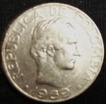 monedas de America - Colombia -  1969 (Anverso)