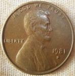 monedas de America - Estados Unidos -  1981 (Anverso)