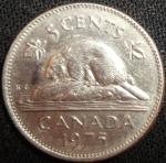 monedas de America - Canadá -  1975 (Reverso)