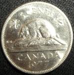 monedas de America - Canadá -  1977 (Reverso)