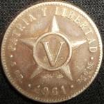 monedas de America - Cuba -  1961 (Reverso)