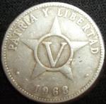 monedas de America - Cuba -  1968 (Reverso)