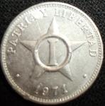monedas de America - Cuba -  1971 (Reverso)