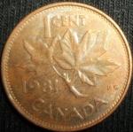 monedas de America - Canadá -  1981 (Reverso)