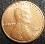 monedas de America - Estados Unidos -  1982 (Anverso)