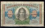 monedas de Europa - España -  Anverso de billete de 2 pesetas de República  Española