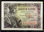 monedas de Europa - España -  Anverso de billete de 1 peseta del Banco de España