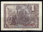 monedas de Europa - España -  Reverso de billete de 1 peseta del Banco de España