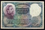 monedas de Europa - España -  Anverso de billete de 50 pesetas del Banco de España