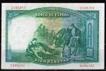 monedas de Europa - España -  Reverso de billete de 100 pesetas del Banco de España