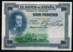 monedas de Europa - España -  Anverso de billete de 100 pesetas del Banco de España