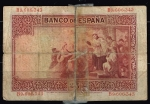 monedas de Europa - España -  Reverso de billete de  25 pesetas del Banco de España