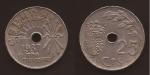 monedas de Europa - España -  25 céntimos 1937