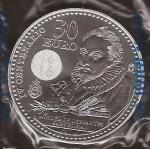 monedas de Europa - España -  30 euros. IV Centenario Miguel de Cervantes. Felipe VI y Letizia. reverso